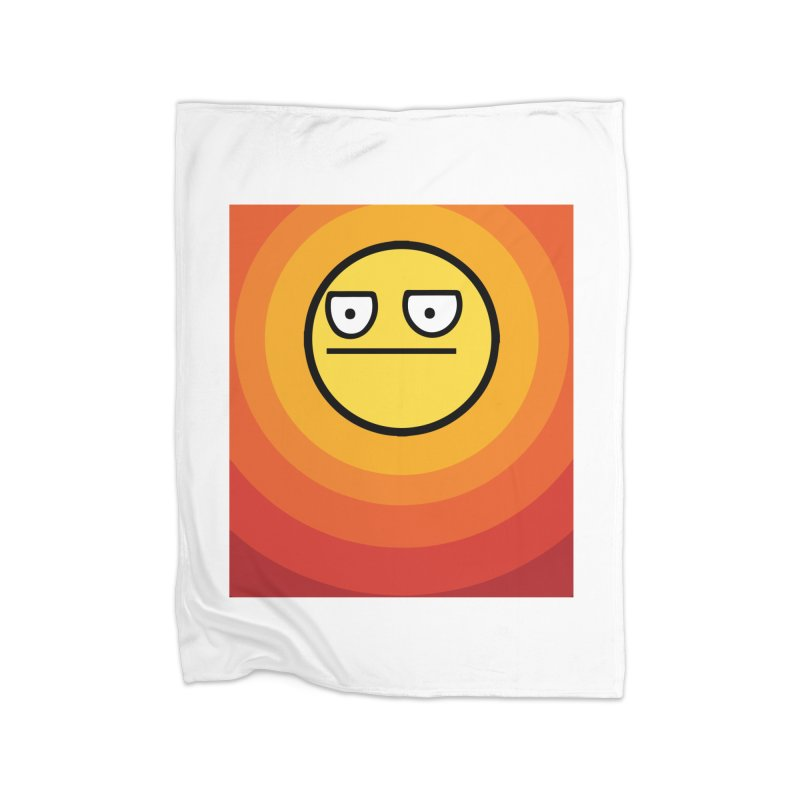 Sunwaves - Not Amused Home Blanket by My Shirty Life