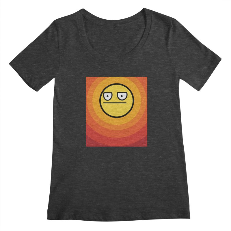 Sunwaves - Not Amused Women's Scoopneck by My Shirty Life