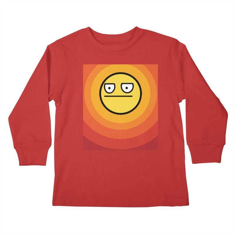 Sunwaves - Not Amused Kids Longsleeve T-Shirt by My Shirty Life