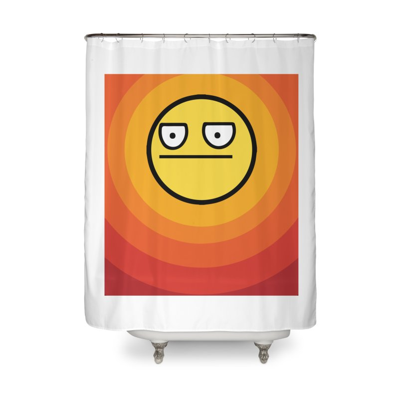 Sunwaves - Not Amused Home Shower Curtain by My Shirty Life