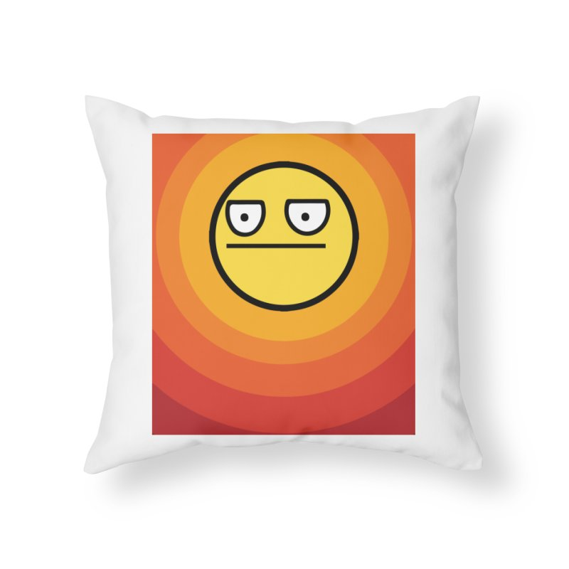Sunwaves - Not Amused Home Throw Pillow by My Shirty Life