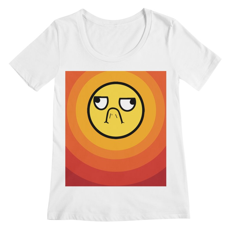 Sunwaves - Grumpy Women's Scoopneck by My Shirty Life