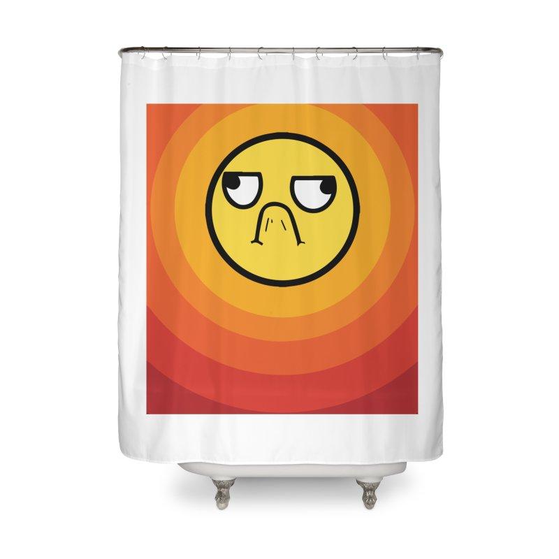 Sunwaves - Grumpy Home Shower Curtain by My Shirty Life