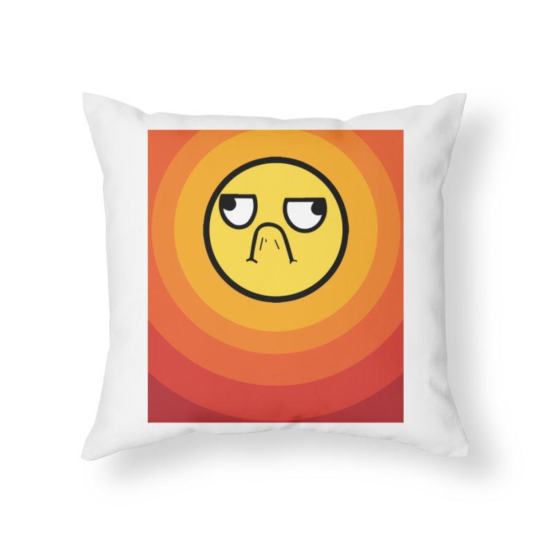 Sunwaves - Grumpy Home Throw Pillow by My Shirty Life