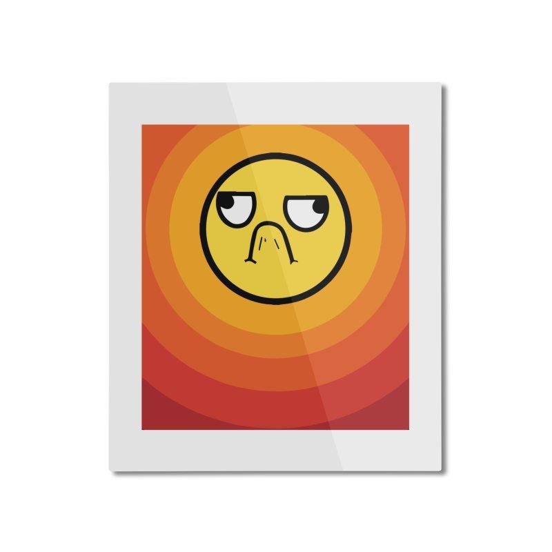 Sunwaves - Grumpy Home Mounted Aluminum Print by My Shirty Life