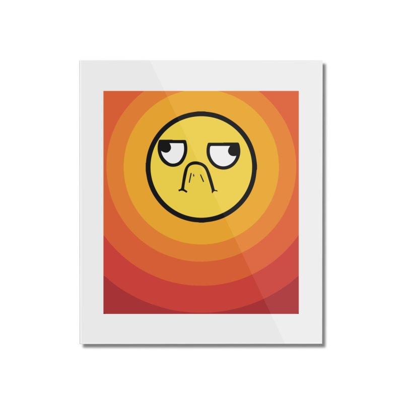 Sunwaves - Grumpy Home Mounted Acrylic Print by My Shirty Life