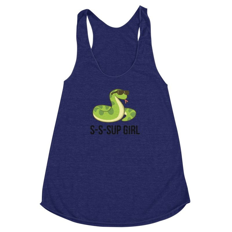 Sup Girl Snake Women's Racerback Triblend Tank by My Shirty Life