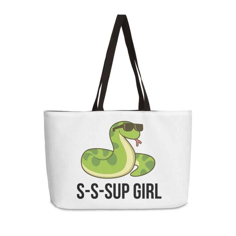 Sup Girl Snake Accessories Weekender Bag Bag by My Shirty Life
