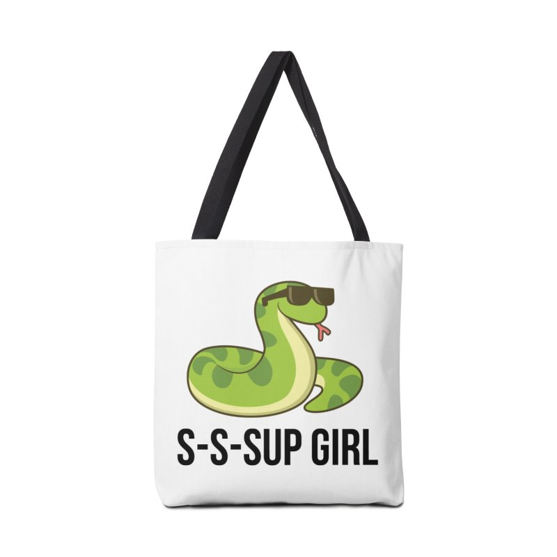 Sup Girl Snake Accessories Tote Bag Bag by My Shirty Life