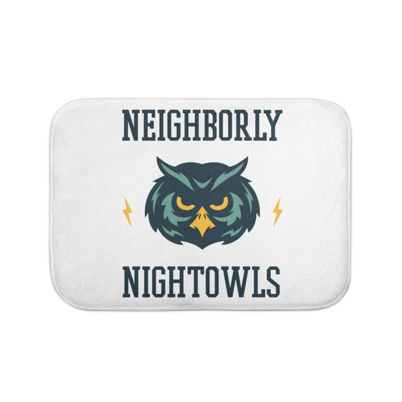 Neighborly Nightowls Home Bath Mat by My Shirty Life