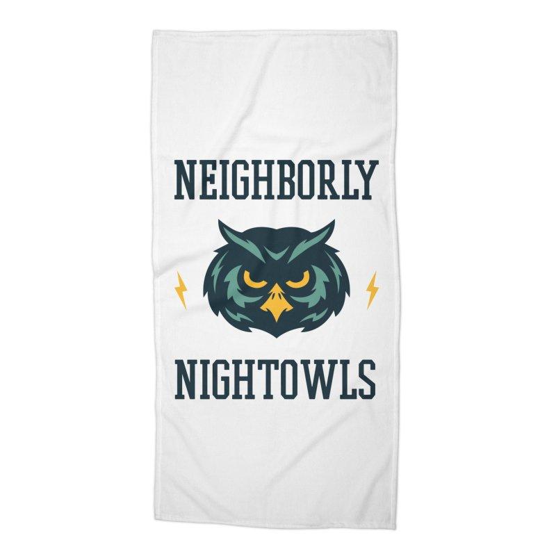 Neighborly Nightowls Accessories Beach Towel by My Shirty Life