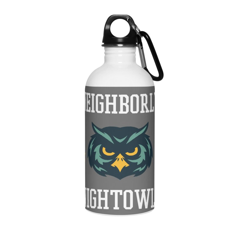 Neighborly Nightowls Accessories Water Bottle by My Shirty Life