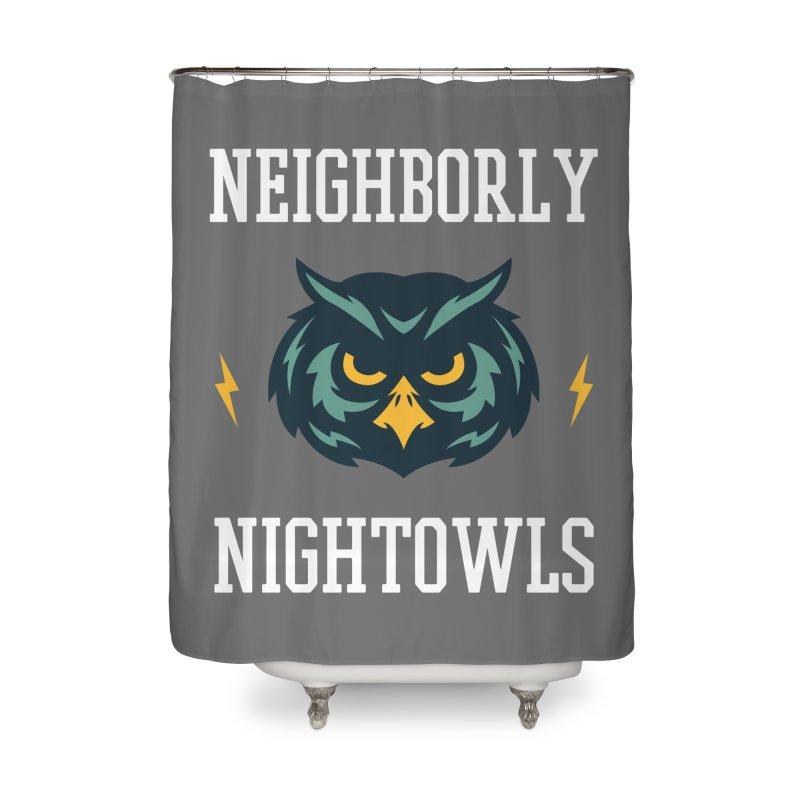 Neighborly Nightowls Home Shower Curtain by My Shirty Life