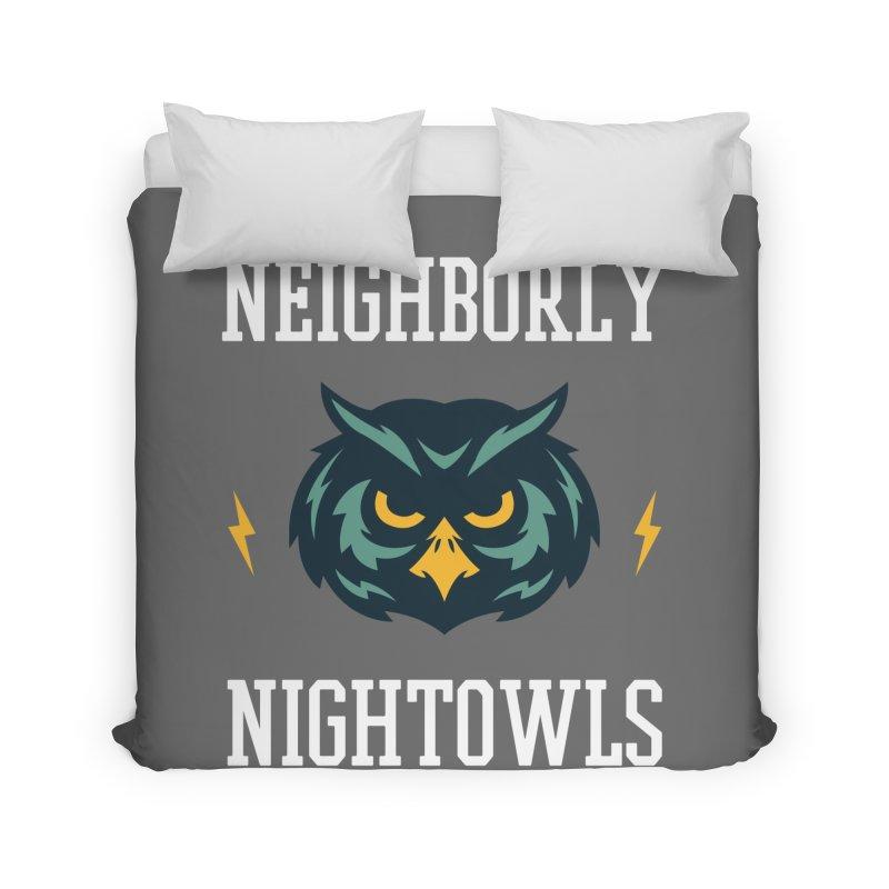 Neighborly Nightowls Home Duvet by My Shirty Life