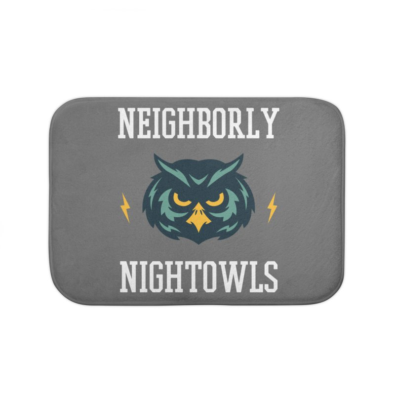 Neighborly Nightowls Home Bath Mat by My Shirty Life