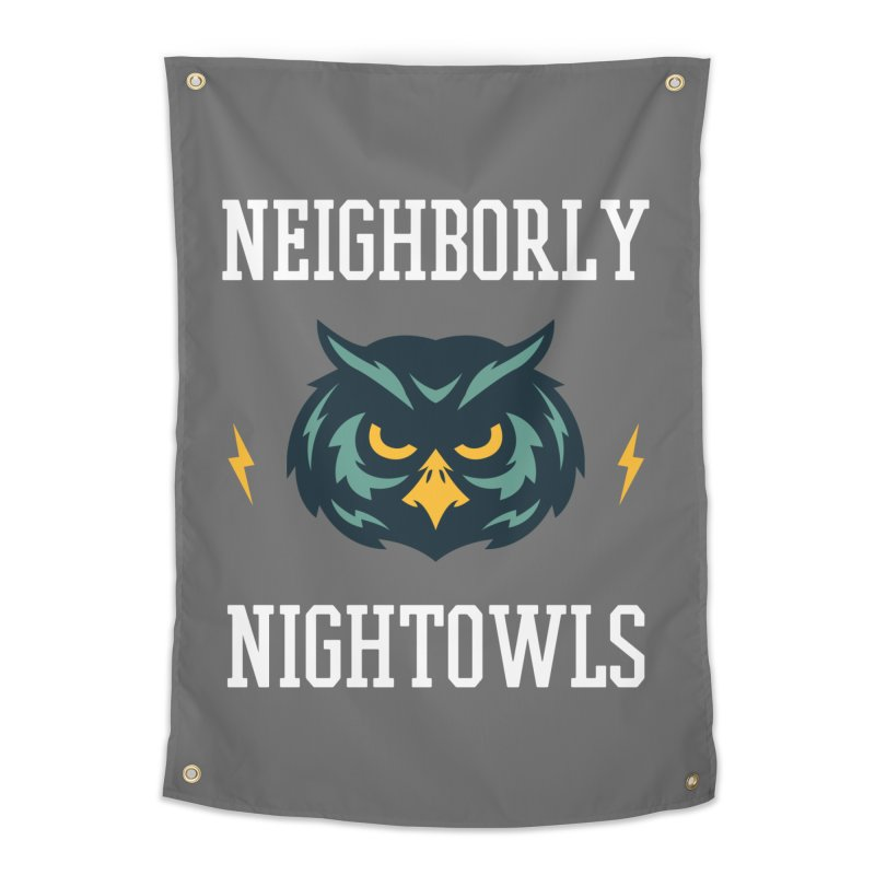 Neighborly Nightowls Home Tapestry by My Shirty Life