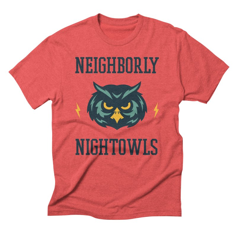 Neighborly Nightowls Men's Triblend T-Shirt by My Shirty Life