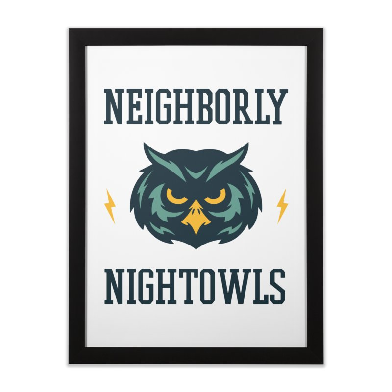 Neighborly Nightowls Home Framed Fine Art Print by My Shirty Life