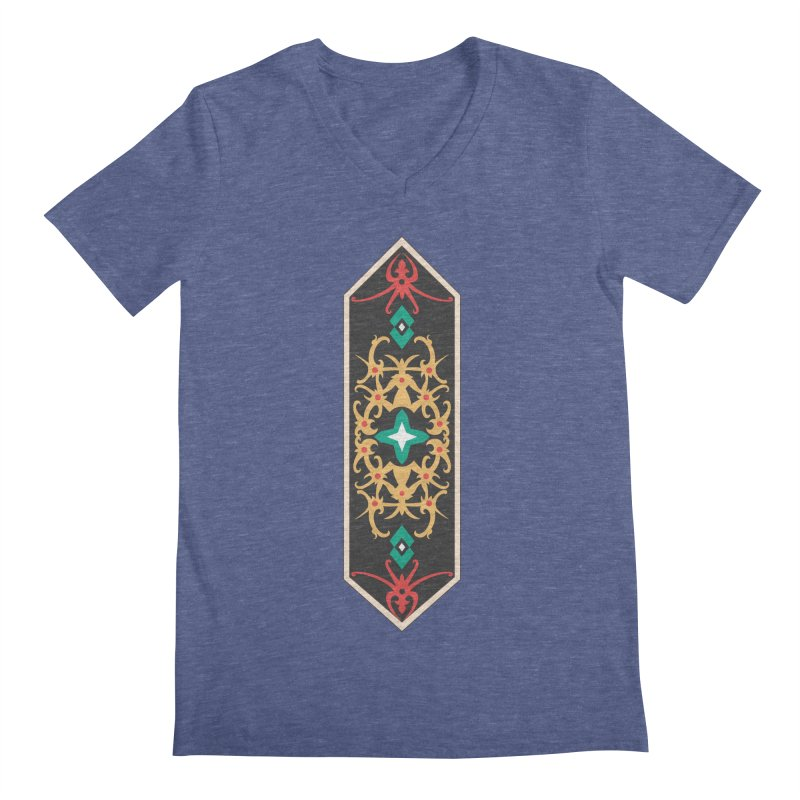Gold, Banner Of Royals Men's V-Neck by My Shirty Life