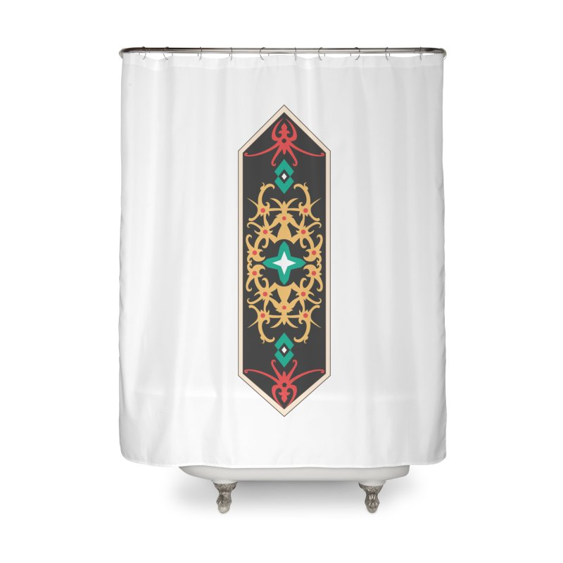 Gold, Banner Of Royals Home Shower Curtain by My Shirty Life