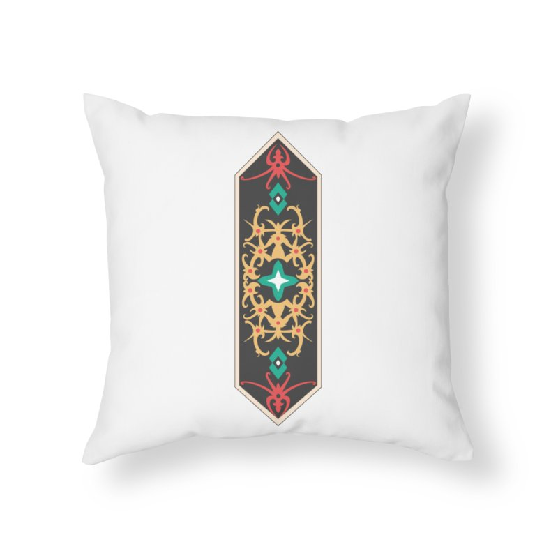 Gold, Banner Of Royals Home Throw Pillow by My Shirty Life