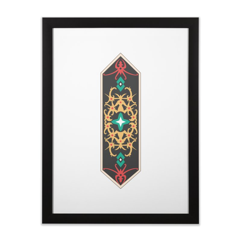 Gold, Banner Of Royals Home Framed Fine Art Print by My Shirty Life