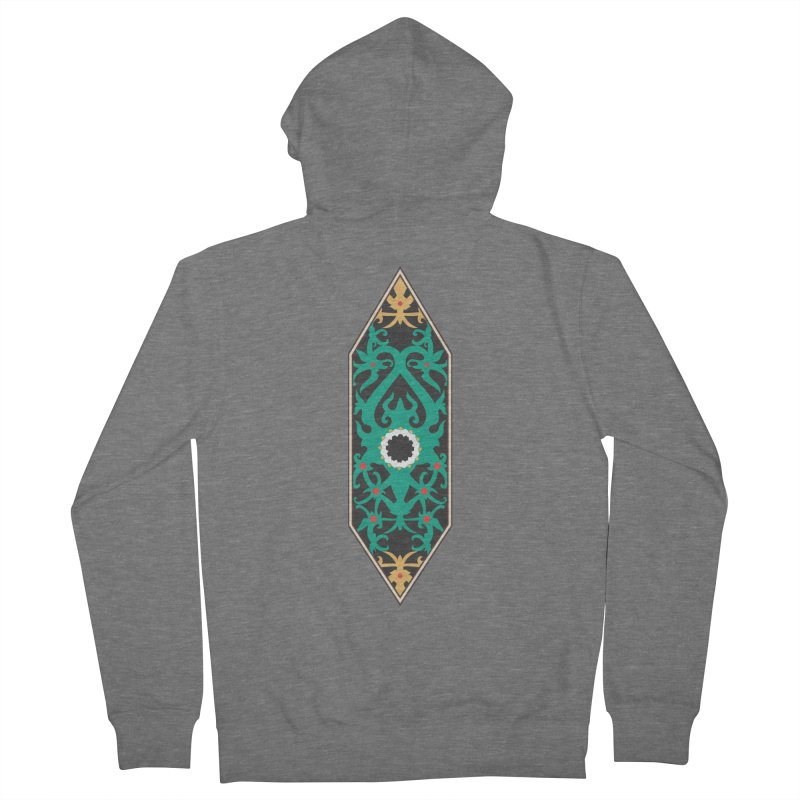Emerald, Banner Of Thorns Women's French Terry Zip-Up Hoody by My Shirty Life