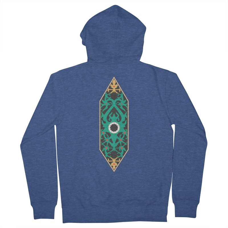 Emerald, Banner Of Thorns Men's French Terry Zip-Up Hoody by My Shirty Life