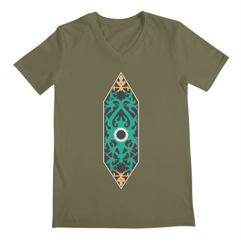 Emerald, Banner Of Thorns Men's V-Neck by My Shirty Life