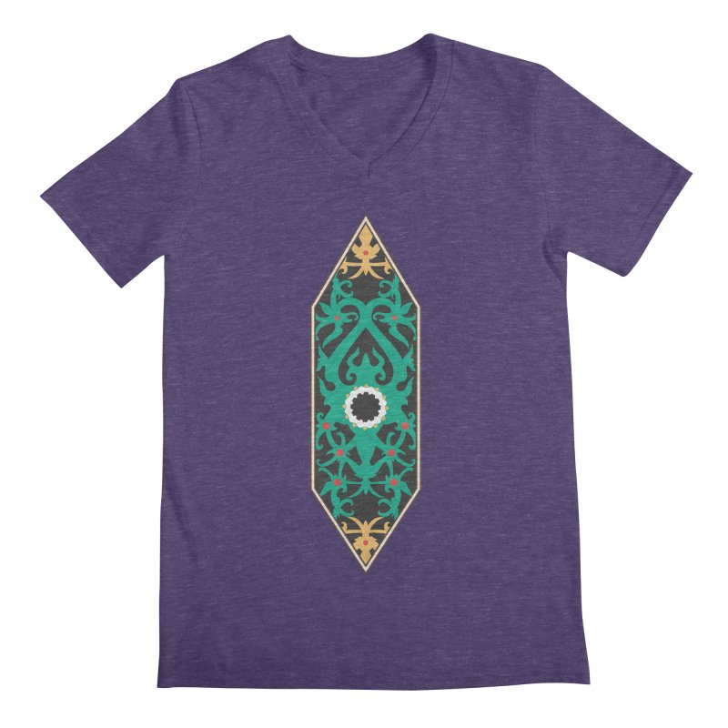 Emerald, Banner Of Thorns Men's Regular V-Neck by My Shirty Life