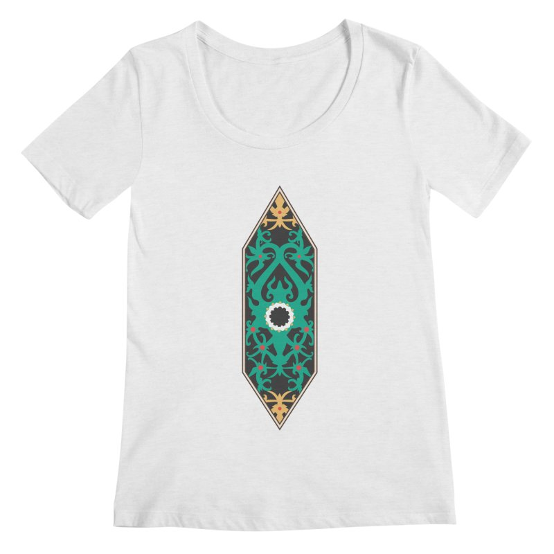 Emerald, Banner Of Thorns Women's Regular Scoop Neck by My Shirty Life