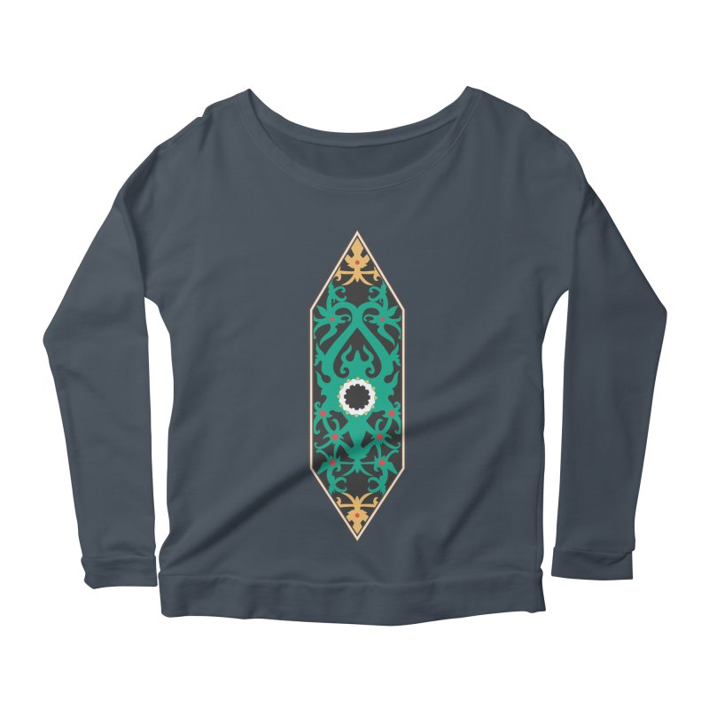 Emerald, Banner Of Thorns Women's Scoop Neck Longsleeve T-Shirt by My Shirty Life
