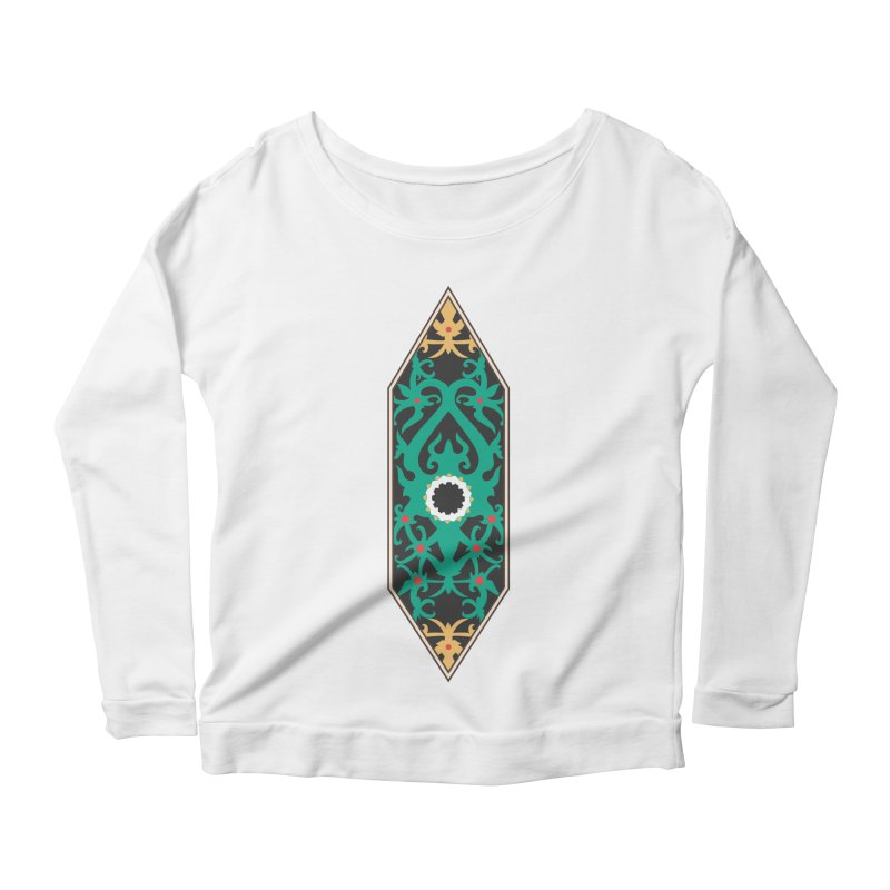 Emerald, Banner Of Thorns Women's Longsleeve Scoopneck  by My Shirty Life