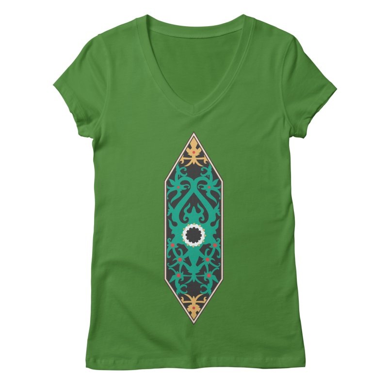 Emerald, Banner Of Thorns Women's V-Neck by My Shirty Life