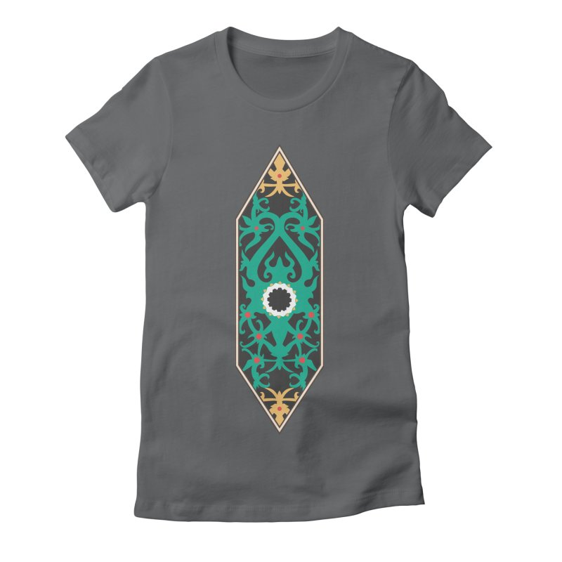 Emerald, Banner Of Thorns Women's Fitted T-Shirt by My Shirty Life