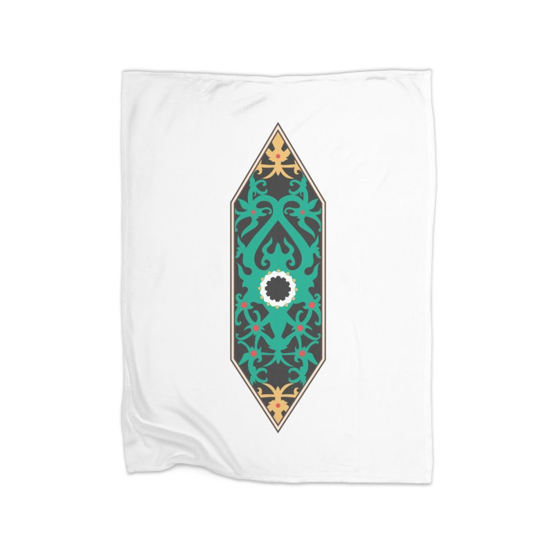 Emerald, Banner Of Thorns Home Fleece Blanket Blanket by My Shirty Life