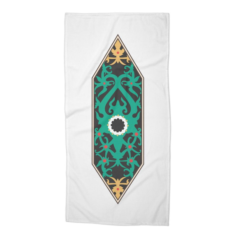 Emerald, Banner Of Thorns Accessories Beach Towel by My Shirty Life