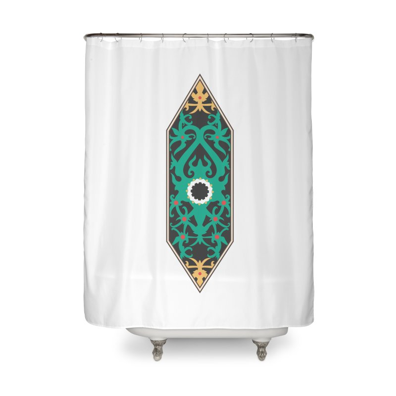 Emerald, Banner Of Thorns Home Shower Curtain by My Shirty Life