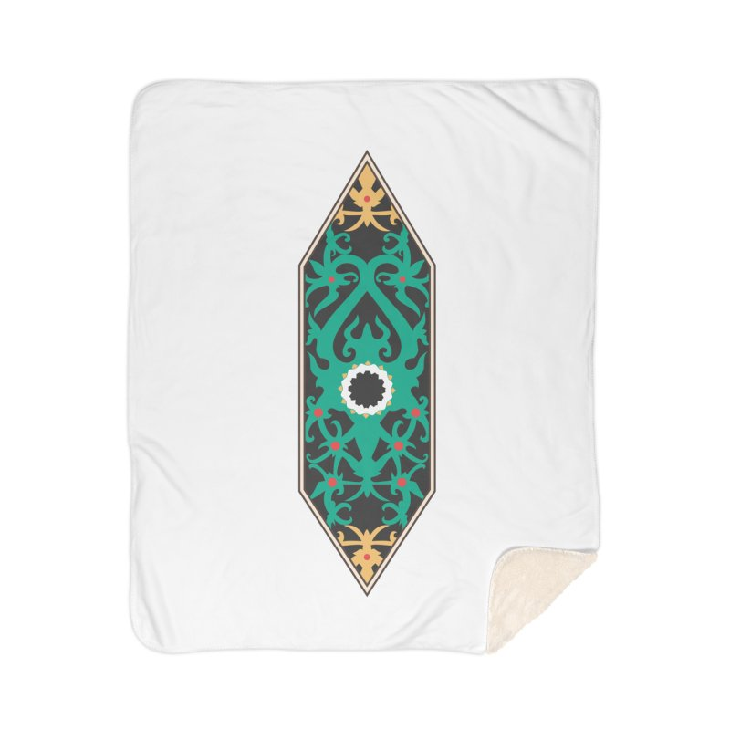 Emerald, Banner Of Thorns Home Sherpa Blanket Blanket by My Shirty Life