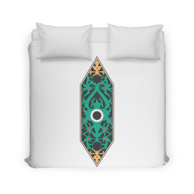 Emerald, Banner Of Thorns Home Duvet by My Shirty Life
