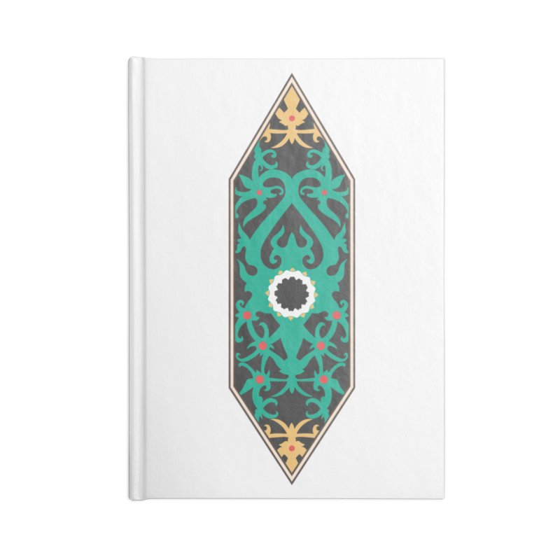 Emerald, Banner Of Thorns Accessories Blank Journal Notebook by My Shirty Life
