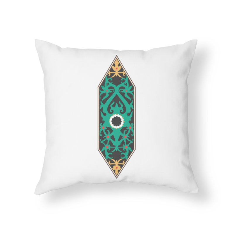 Emerald, Banner Of Thorns Home Throw Pillow by My Shirty Life