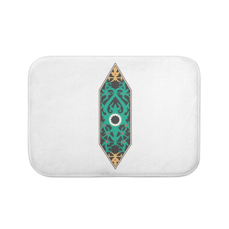 Emerald, Banner Of Thorns Home Bath Mat by My Shirty Life