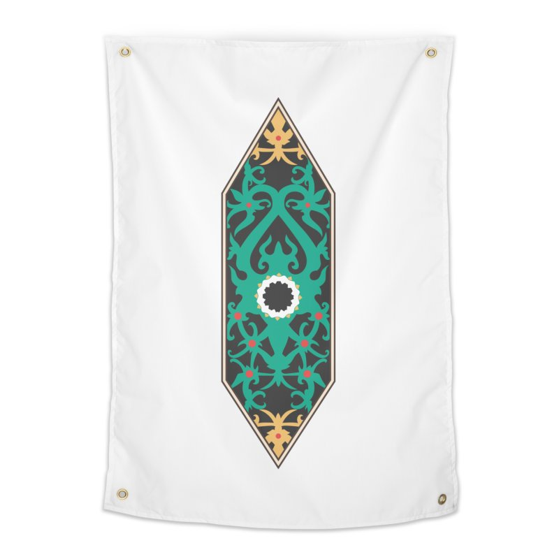 Emerald, Banner Of Thorns Home Tapestry by My Shirty Life