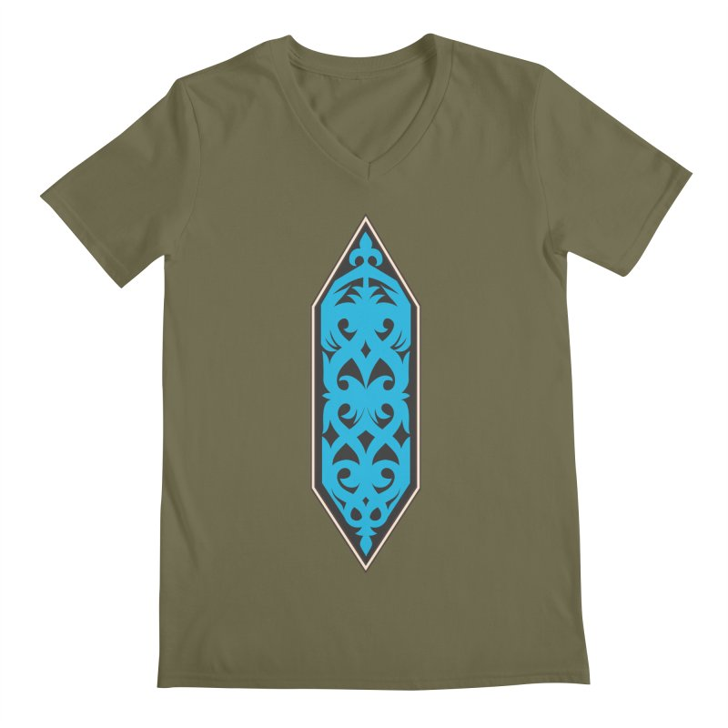 Azure, Banner Of The Sky and Sea Men's Regular V-Neck by My Shirty Life