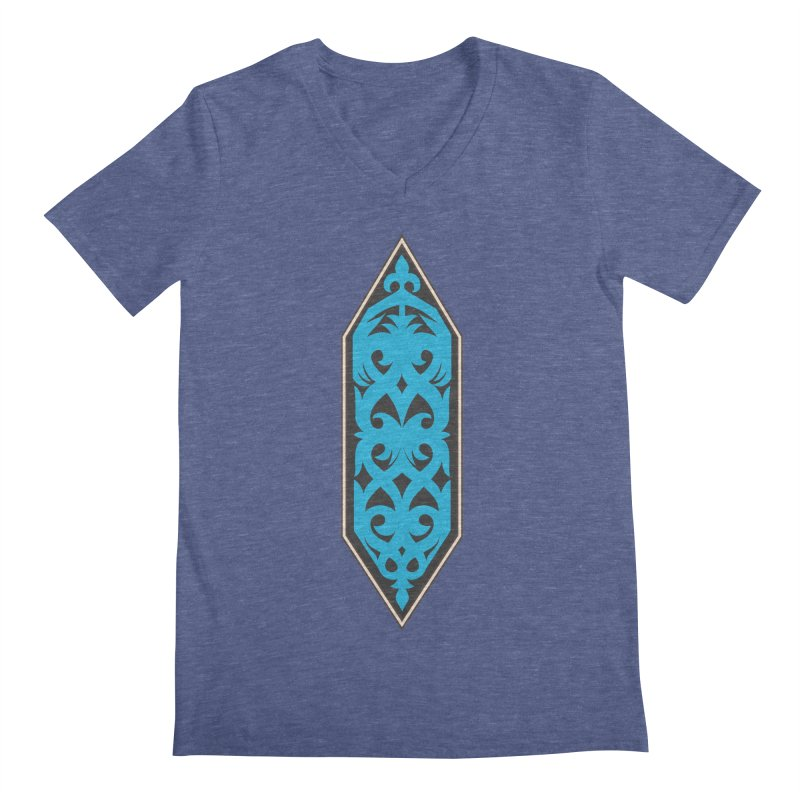 Azure, Banner Of The Sky and Sea Men's V-Neck by My Shirty Life