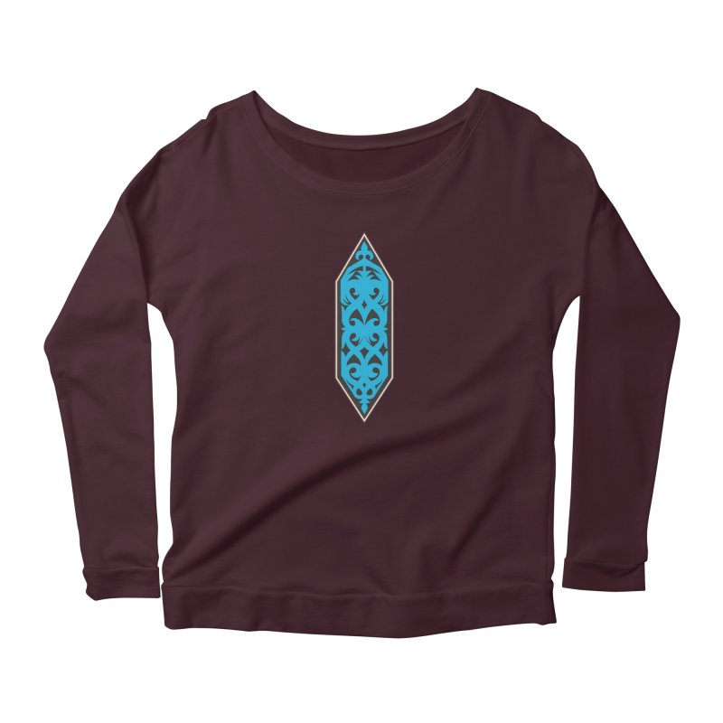 Azure, Banner Of The Sky and Sea Women's Scoop Neck Longsleeve T-Shirt by My Shirty Life
