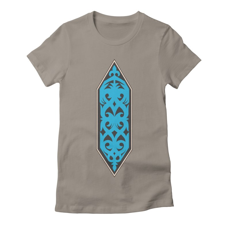 Azure, Banner Of The Sky and Sea Women's Fitted T-Shirt by My Shirty Life