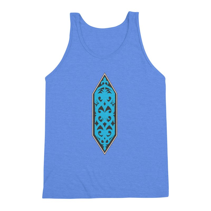 Azure, Banner Of The Sky and Sea Men's Triblend Tank by My Shirty Life