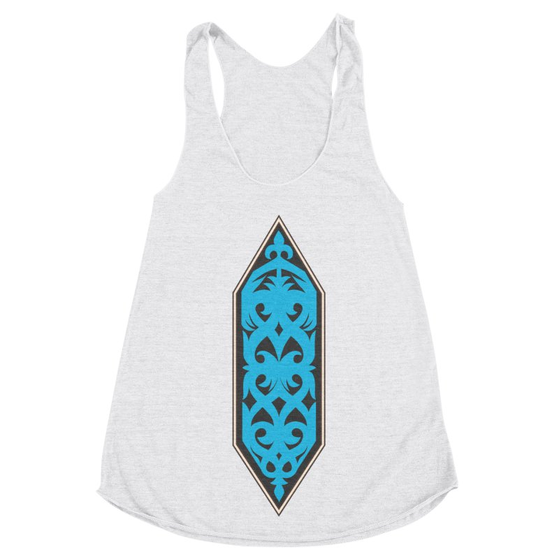 Azure, Banner Of The Sky and Sea Women's Racerback Triblend Tank by My Shirty Life
